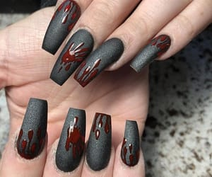 bloody, Halloween, and nail art image