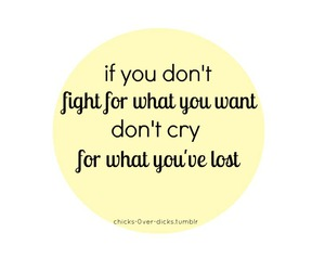 quote, cry, and fight image
