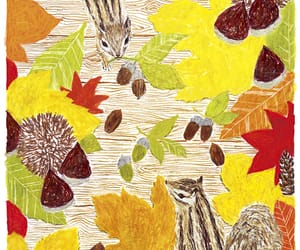 animals, fall, and illust image