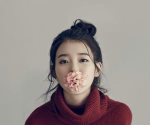 iu, kpop, and flowers image