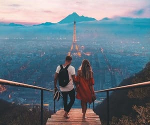couple, love, and paris image