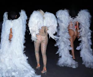 angel, kendall jenner, and kylie jenner image