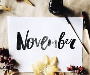 calligraphy and november image