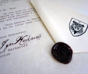 Letter, harry potter, and durmstrang image