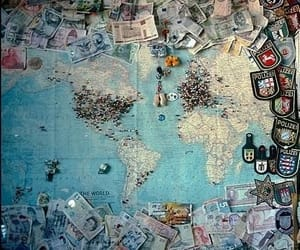 map, travel, and traveling image