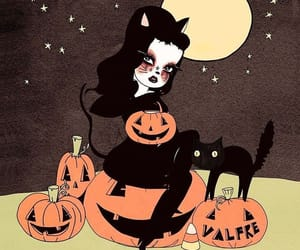 Halloween, art, and cat image
