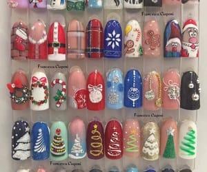 nails, art, and christmas image