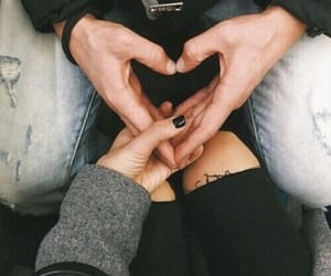 finger and heart image