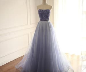 prom dress, prom dresses lace, and purple prom dresses image