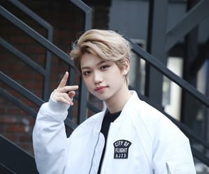 felix, kpop, and freckles image