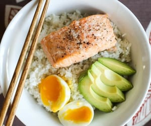 healthy, avocado, and rice image