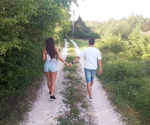 couple, nature, and sky image