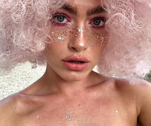 glitter, model, and pink image