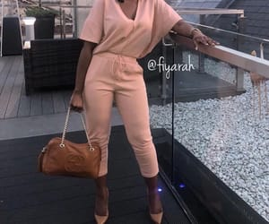 fashion style, rose jumpsuit, and gucci louboutin image