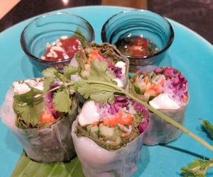 food, spring roll, and asaianfood image