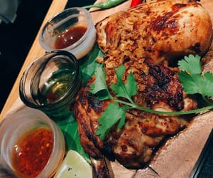 Chicken, asianfood, and grilled chicken image