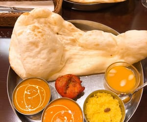 Chicken, curry, and naan image