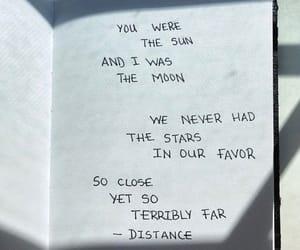 book, distance, and moon image
