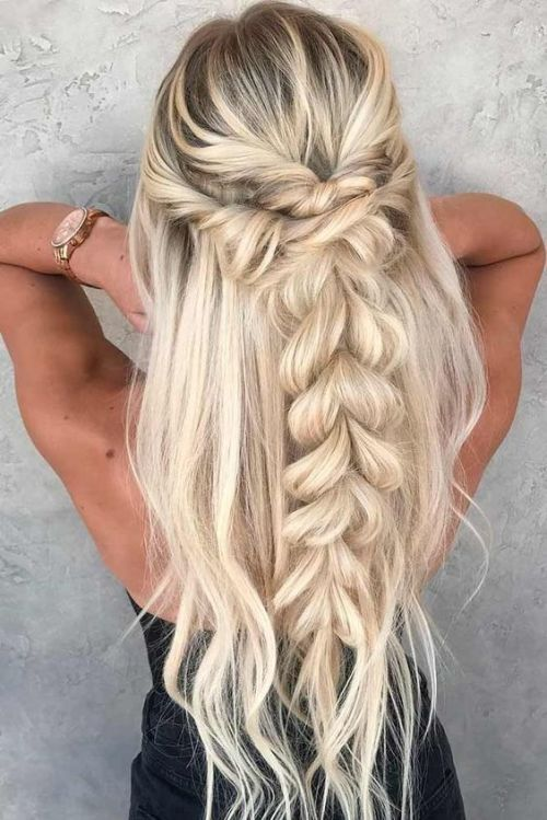 hair, braid, and hair style image