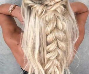 hair, braid, and hair style image