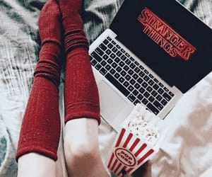 red, stranger things, and socks image