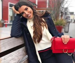 beauty, girl, and red bag image