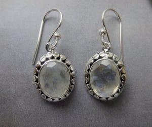 etsy, vintage earrings, and gemstone earrings image