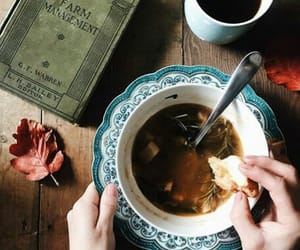 book, dish, and soup image