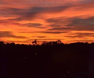 evenings, sunset, and orange and black image