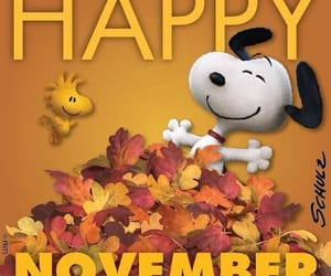 november and snoopy image