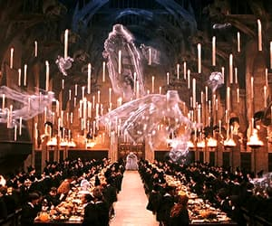 gif, hogwarts, and ghosts image