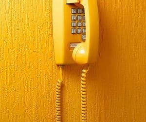 yellow, phone, and aesthetic image