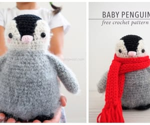 amigurumi, crochet, and baby penguin image