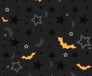 background, moon, and bats image