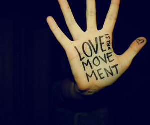 love, hand, and movement image