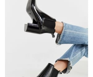 black, urban outfitters, and black boots image