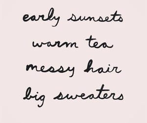 quotes, tea, and fall image