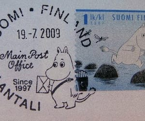 finland, moomin, and stamp image