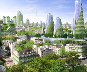 city, environmentalism, and green future image