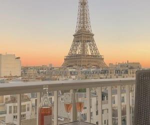 paris and sunset image