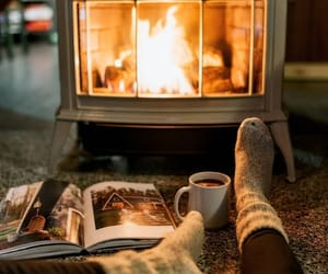 autumn, fire, and cozy image