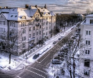 winter, germany, and snow image