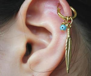 earring, piercing, and jewel image