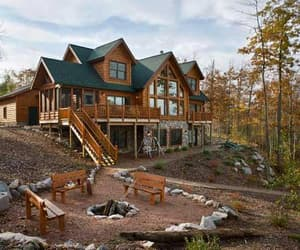 cabin, country living, and mountain home image