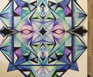 abstract, color, and colored pencil image