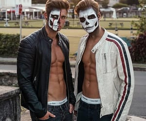 abs, Halloween, and makeup image