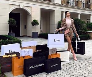 luxury, girl, and shopping image