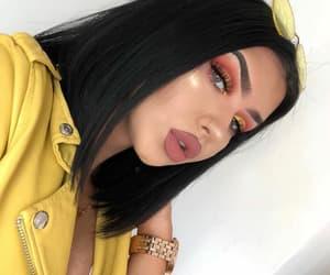 blush, brown, and eyes image