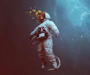 alone, art, and astronaut image