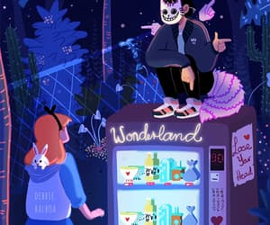 alice in wonderland, neon, and alternative image